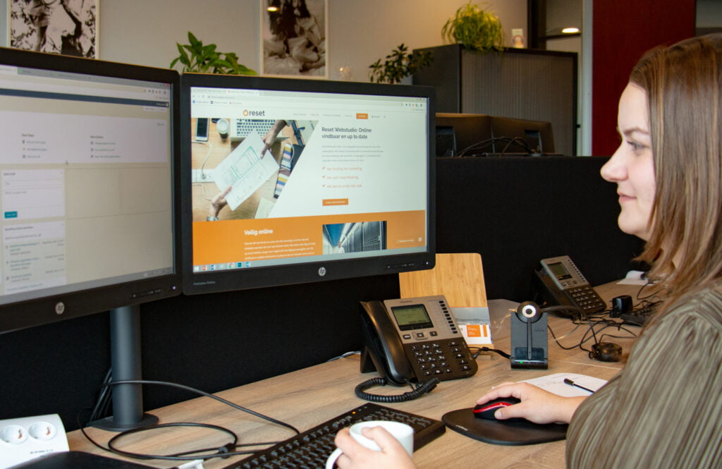 De webspecialist aan het werk in WordPress