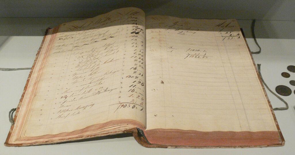 Een ouderwets administratieboek