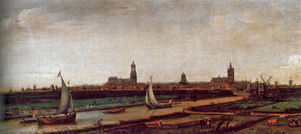 Uitzicht over Delft