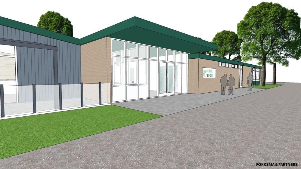 Het plan voor de vernieuwing van het DHL clubhuis.