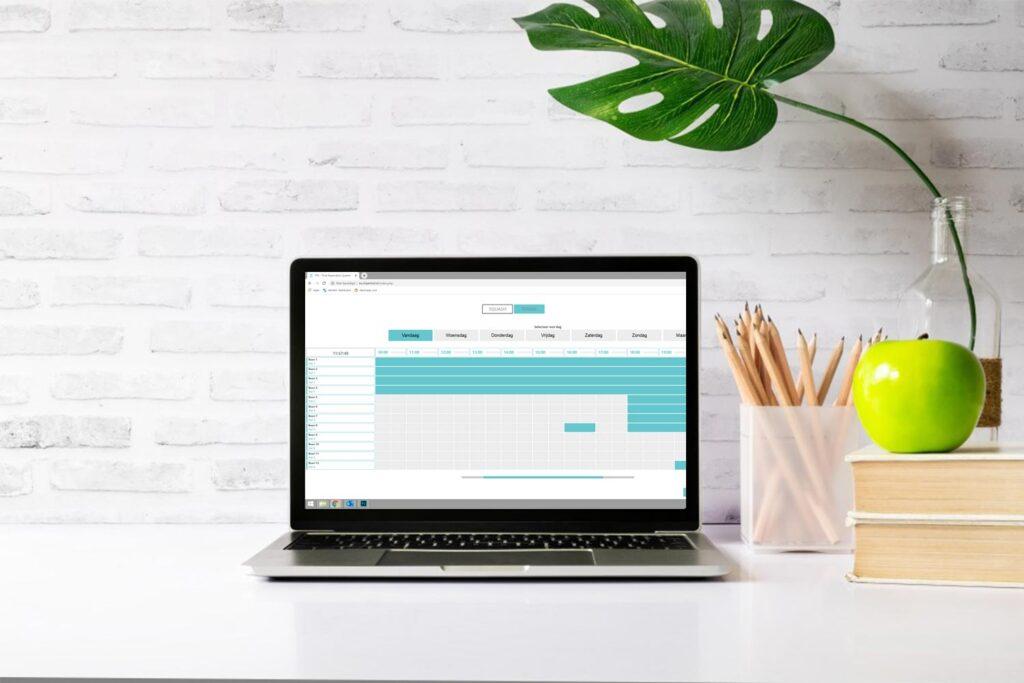 Laptop met reserverings systeem