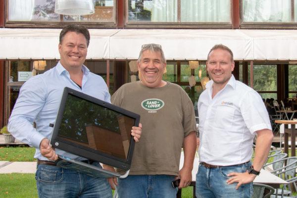 Rolf de Keyzer,  Jeroen van Schie, eigenaar Art Centre Delft en Dennis Schoneveld