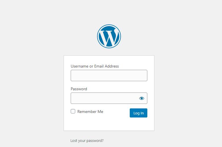 inloggen bij wordpress met een sterk wachtwoord