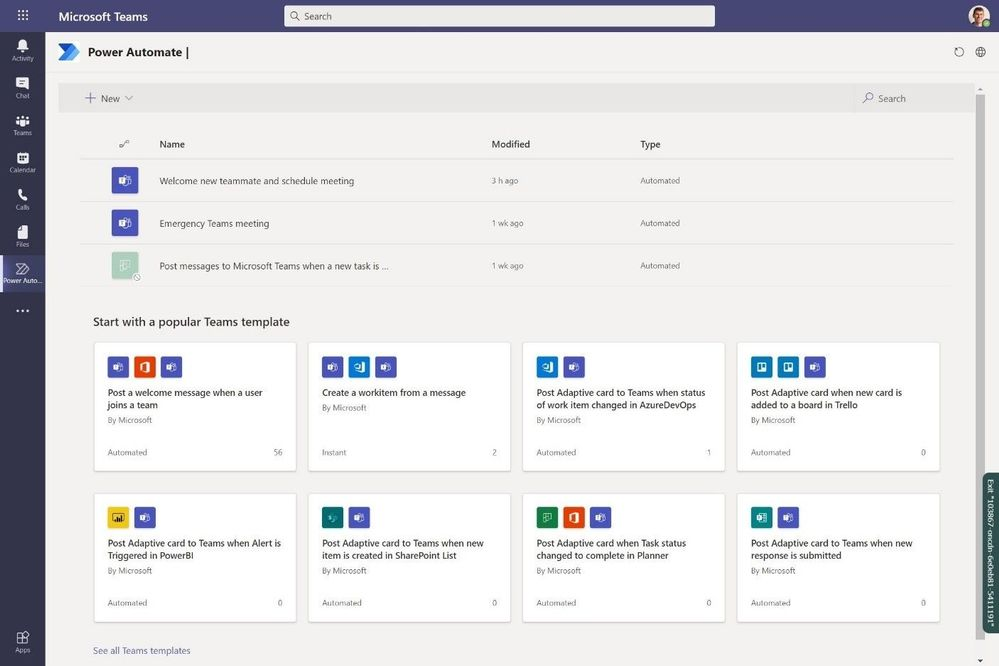 Power Automate in Microsoft Teams