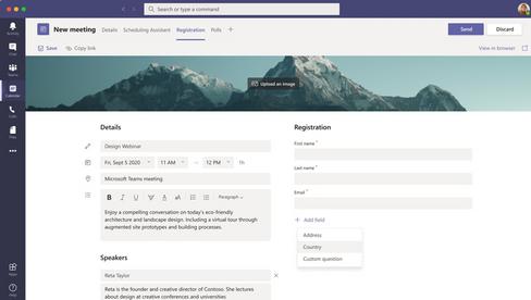 webinar registratie in microsoft teams