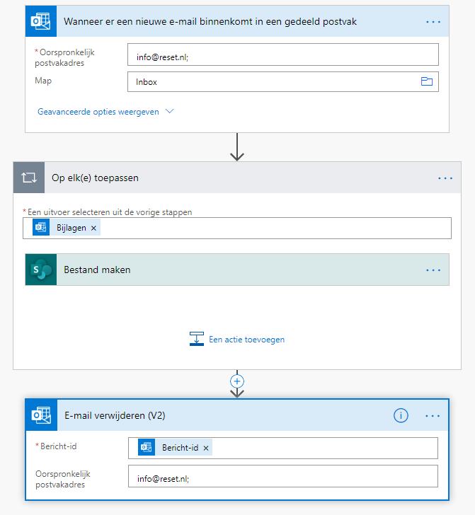 E-mailbijlagen opslaan in OneDrive