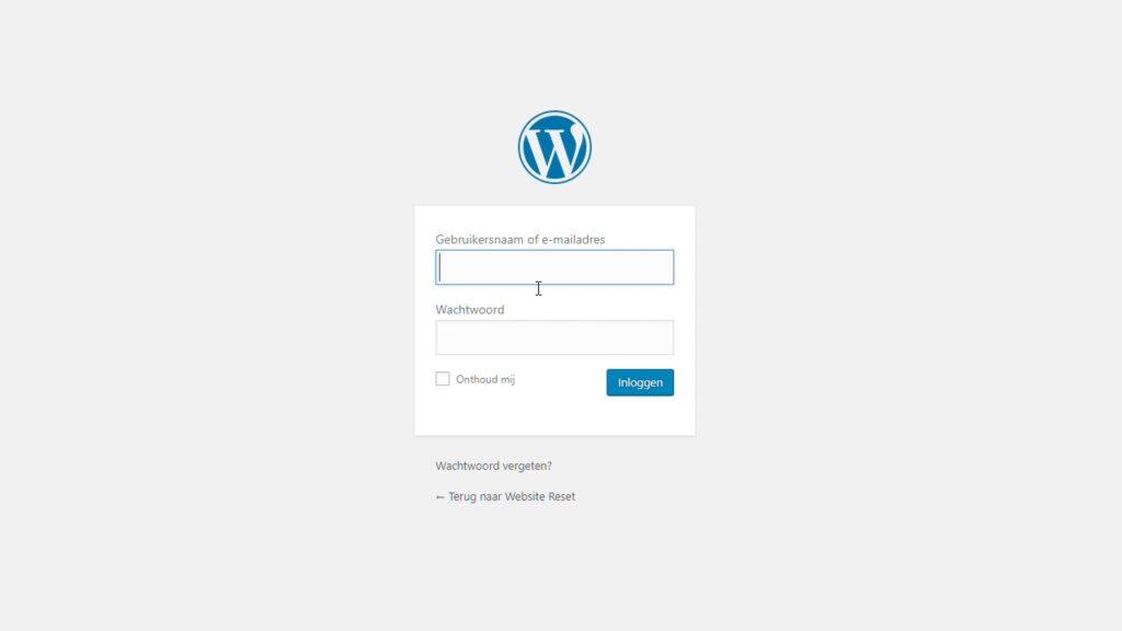 Log in in WordPress