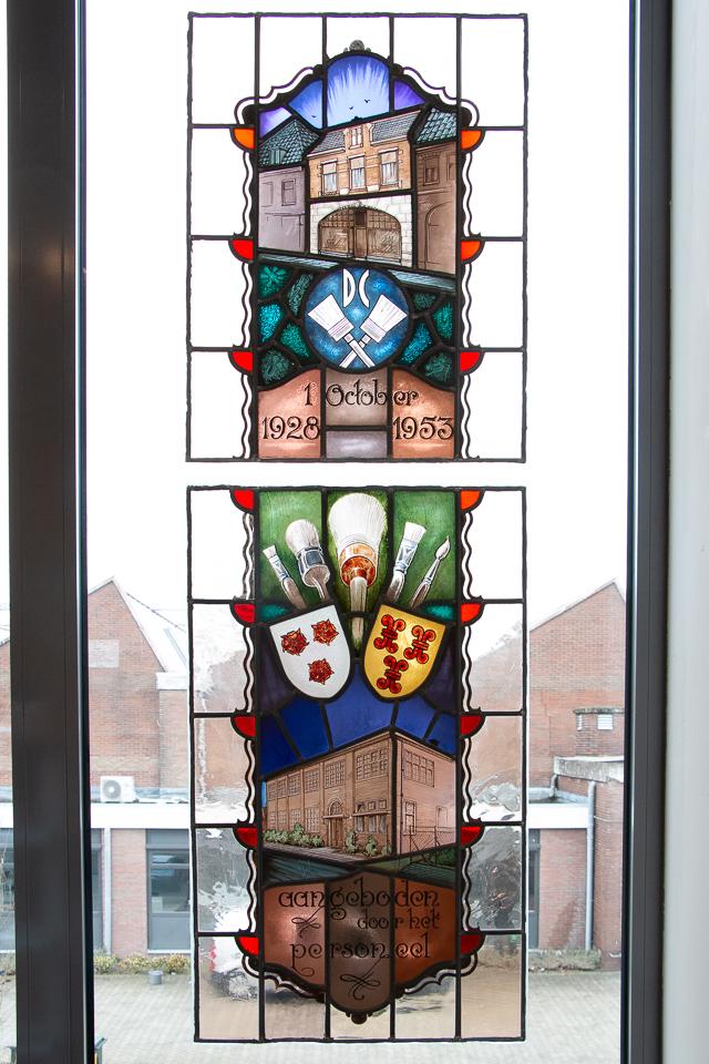 glas in lood van Van Dams kwastenfabriek - Culemborg